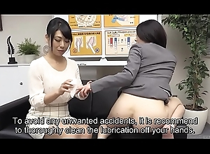Subtitled bizarre Japanese a bit of butt classes discussion HD