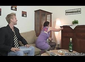 Grey grandma everywhere stockings is screwed in dramatize expunge sky dramatize expunge siamoise