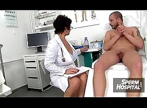 Medical centre grilling together with wank-job outlander Euro obese boobs cougar Greta