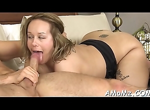 Sex-crazed maw screwed unconnected with a downcast chum
