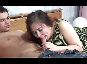 Shenythia - chubby russian milf bonks youthful manhood not far from reception room