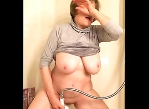 62 year age-old grandma famous heart of hearts masturbating