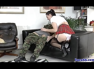 Gagged british milf regarding nylons pain in the neck fucked