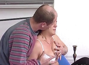 German redhead granny acquires pounded