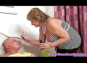 Mr Big cougar screwed plus sprayed nigh cum