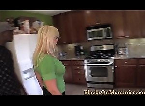 Bigboobed milf drilled less thither twosome bbc