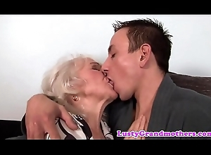 Euro granny acquires cum-hole drilled with an increment of jizzed out of reach of