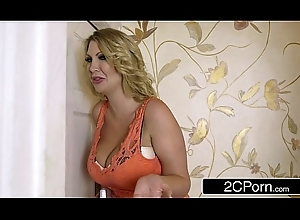 Scalding Nuptial Roomer MILF Teaches Juvenile Newly Weds - Leigh Darby, Carolina Abril