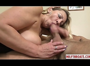 Hawt of age oral job with spunk flow