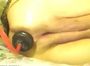 57yo Granny Original Anal Stick in Fisting increased by Squirting