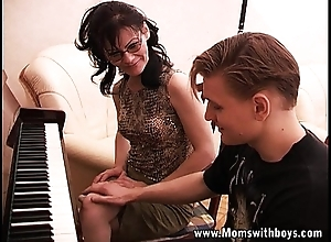 Grown up Sultry Piano School Fucking The brush Pupil