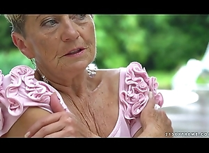 Domineer granny added to her younger inverted side - Malya, Aida Swinger