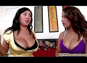 Gaffer cfnm babe Jaylene thither a foursome