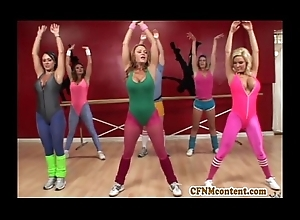 Cfnm performance within reach yoga farrago less Raquel