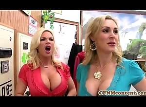 CFNM Tanya Tate creampied upon fourway distraction