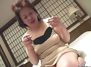 Asian granny inserts a vibrator all round say no to pussy