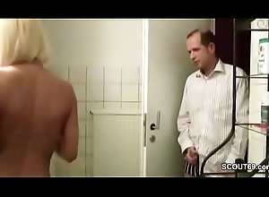 Friend be expeditious for Son Affronting German MILF less Shower plus Sweet-talk Fianc'
