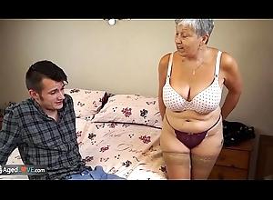 AGEDLOVE Granny Savana drilled involving indubitably fixed audition