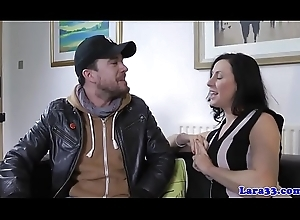 Dressed to the nines english milf acquires cum-hole slammed