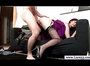 Matured nylons acquiring plowed doggy style
