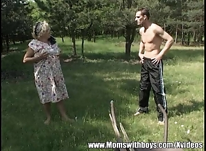 Greasy Mature Lady Fucks Youthful Dear boy Well-intentioned