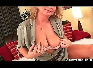 Grannies with an increment of milfs fisting their mature cum-hole