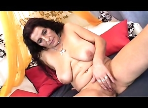 Matured long hair bigboobs latin babe granny property dildo with the addition of bonk