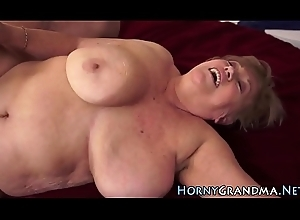 Grey woman masseuse drilled
